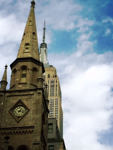 Church eclipsed by Empire State Building (Photo by Bob)