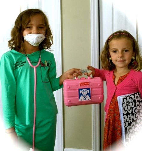 Brooklynn and Olive, ready to operate