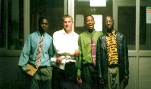 "Spence with African brothers. ""I'll see them again in heaven."""